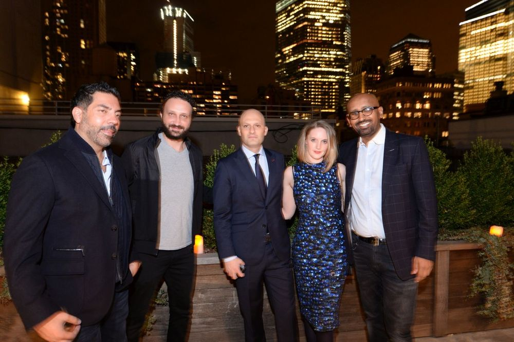 Alby Tubilla, Andrea Fiocchi, Sarah Tallent, and Sahle Ghebreyesus attend Baroque Access Presents- Louis XIII Legacy Experience