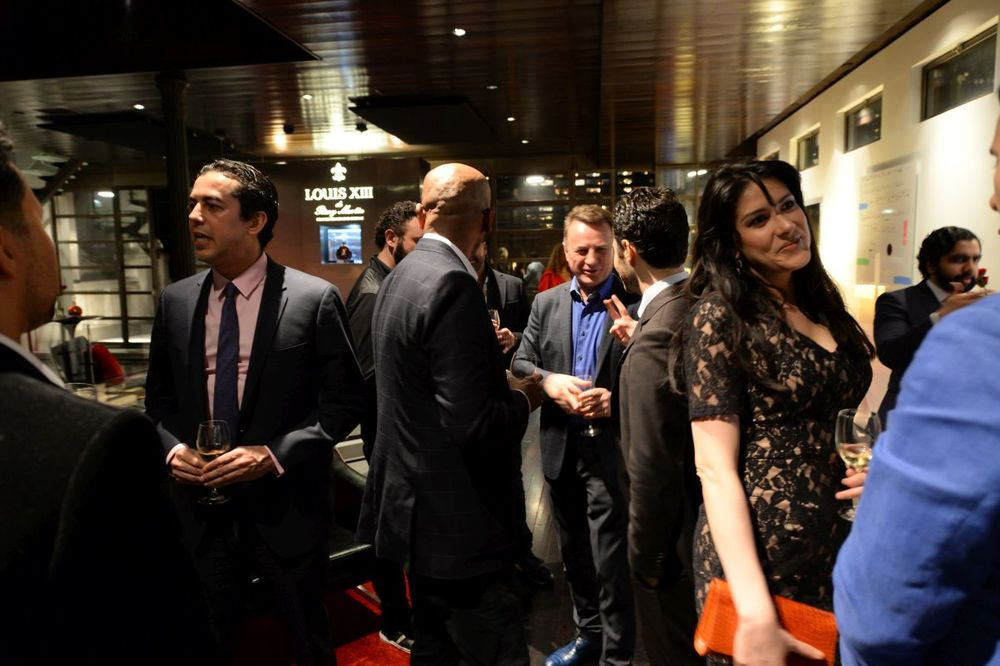 Crowd mingles at Baroque Access Presents- Louis XIII Legacy Experience