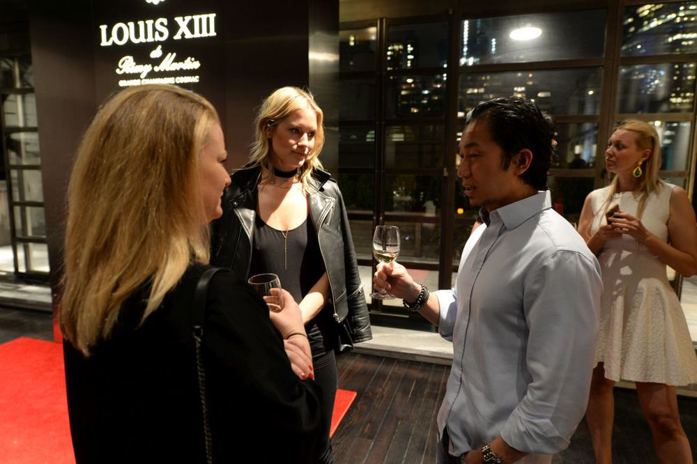 Guests mingle at Baroque Access Presents- Louis XIII Legacy Experience