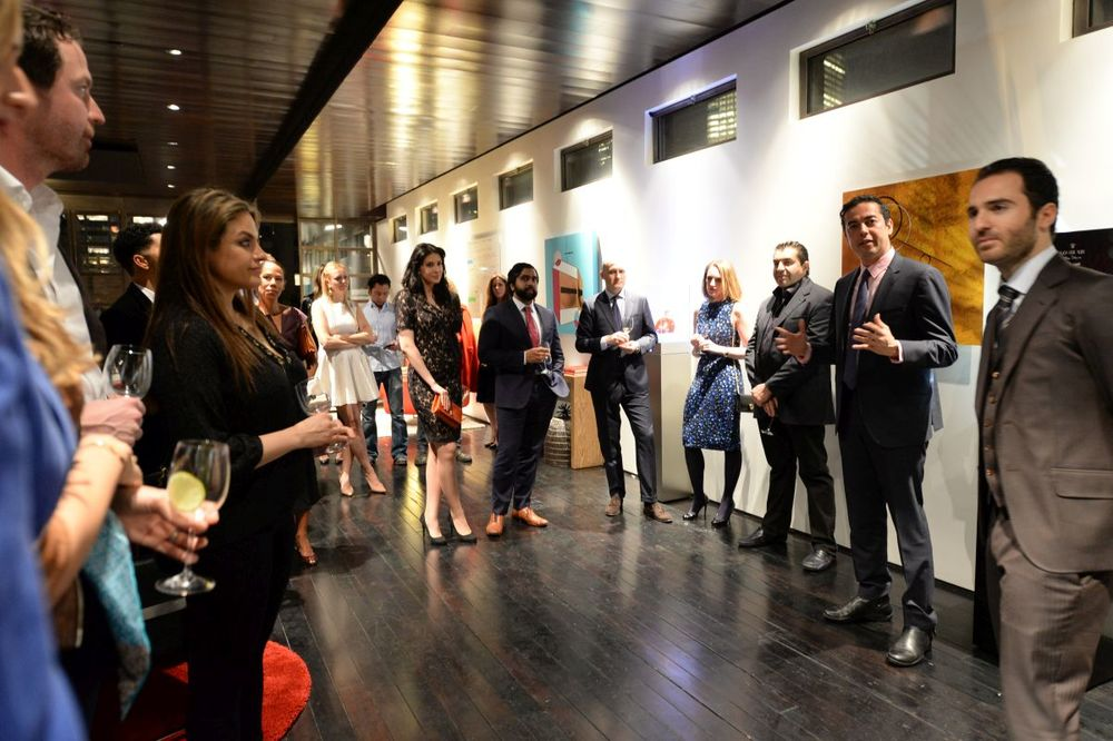 Hicham Enhaili gives a speech at Baroque Access Presents- Louis XIII Legacy Experience