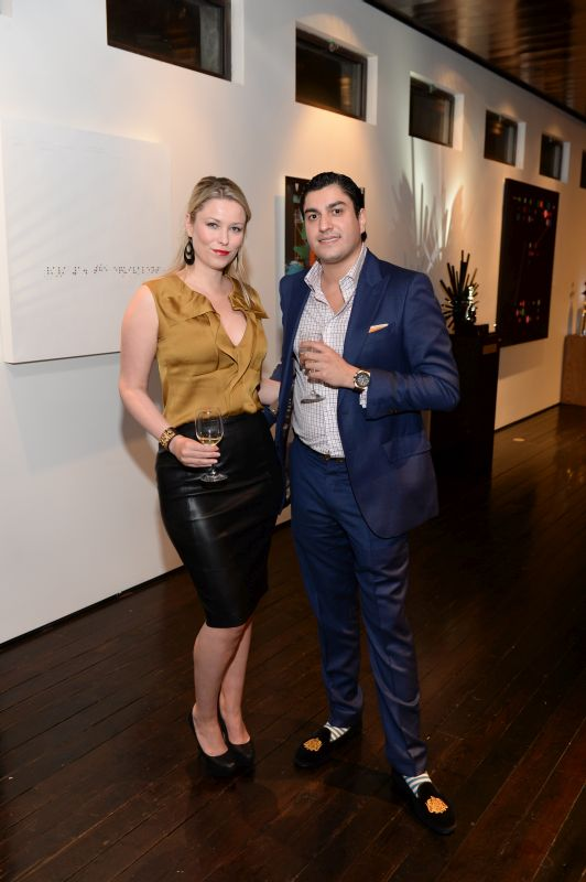 Kiera Chaplin and Oliver James attend Baroque Access Presents- Louis XIII Legacy Experience