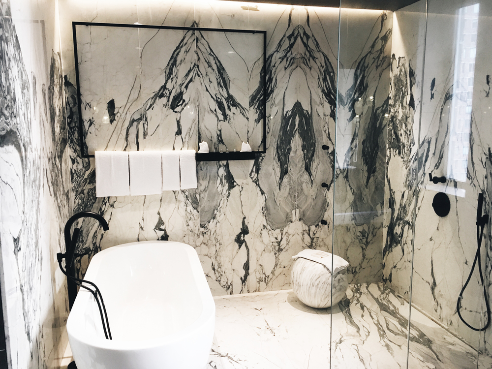 The Times New York Penthouse Marble Bathroom