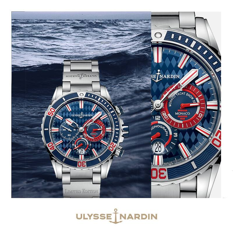 Main sponsor, Ulysse Nardin, pays tribute to this high point in the yachting calendar with a limited edition Diver Chronograph Monaco.