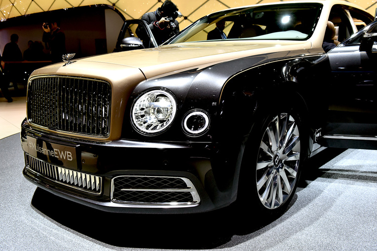 Bentley Mulsanne EWB at the 2016 Geneva Motor Show; Photo by David Marechal