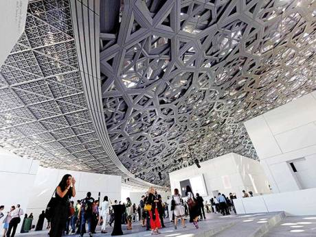 Under its honeycombed dome, Louvre Abu Dhabi on its grand Saturday opening; Credit: Abdul Rahman/Gulf News