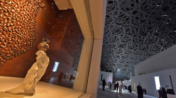 Part of the Louvre Abu Dhabi Museum; Image Credit: AFP