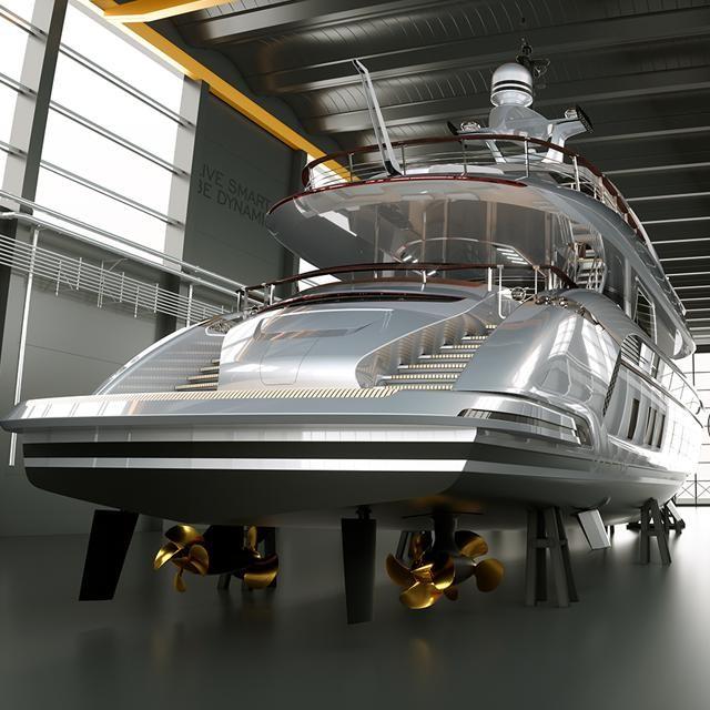 Designed in collaboration between Dynamiq Yachts and Studio FA Porsche, this magnificent 35m Porsche GTT 115 Hybrid #superyacht is breathtaking!  #motoryacht #yachtworld #yachtlife #yachtinglifestyle #yachtclub #yachtmaster #yachtcruise #luxurylife #thegoodlife #yachtdesign #sailing #privateyacht #yachting #yachtcharter #море #роскошь #яхта #стильжизни #лайк #следуйзамной #baroquelifestyle