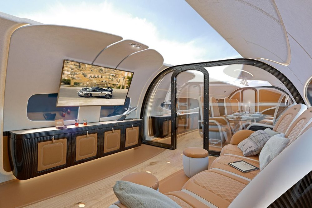 FIRST EVER CONVERTIBLE PRIVATE JET