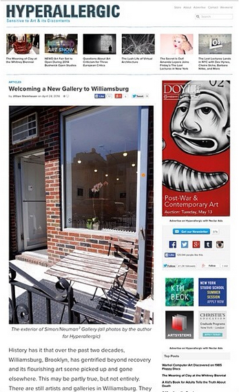 HyperAllergic  To read article: http://bit.ly/1rTe6A5