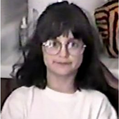 age eight with awesome glasses
