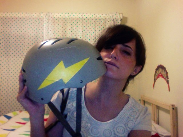 Lightning bolt helmet