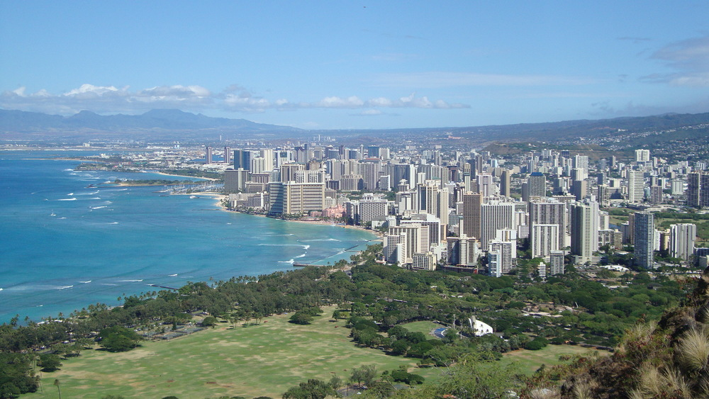 Diamonds head crater - Honolulu view