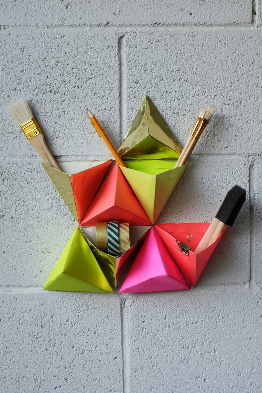 miss cloudy les nuits créatives montréalaise origami pocket wall