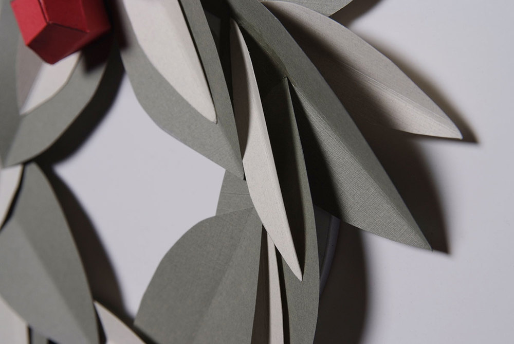 Miss Cloudy diy christmas paper wreath origami