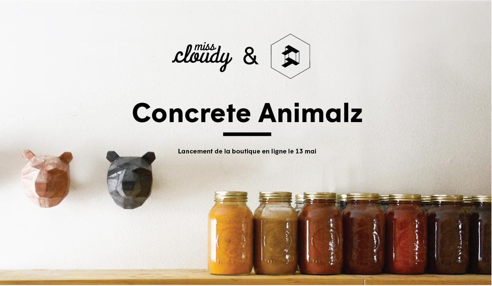 Miss Cloudy lancement de la boutique en ligne d'objet en beton collaboration Thomas Pagliuca