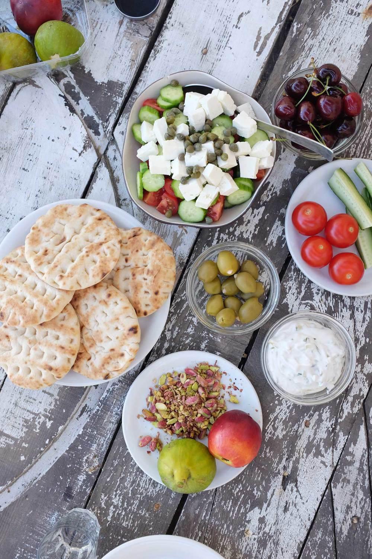 Festin grecque, Santorin, les cyclades, Grèce