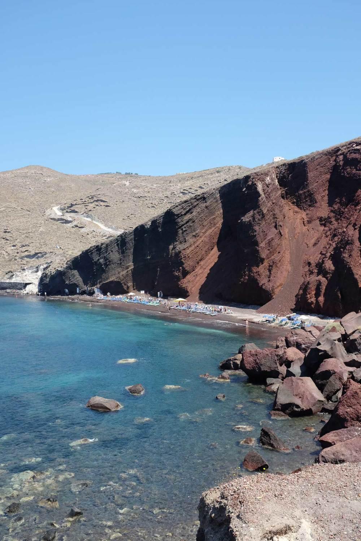 Red Beach, Santorin, les cyclades, Grèce