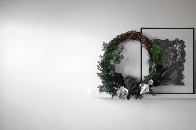 Couronnes de Noël réalisées par Hiromi Ono.