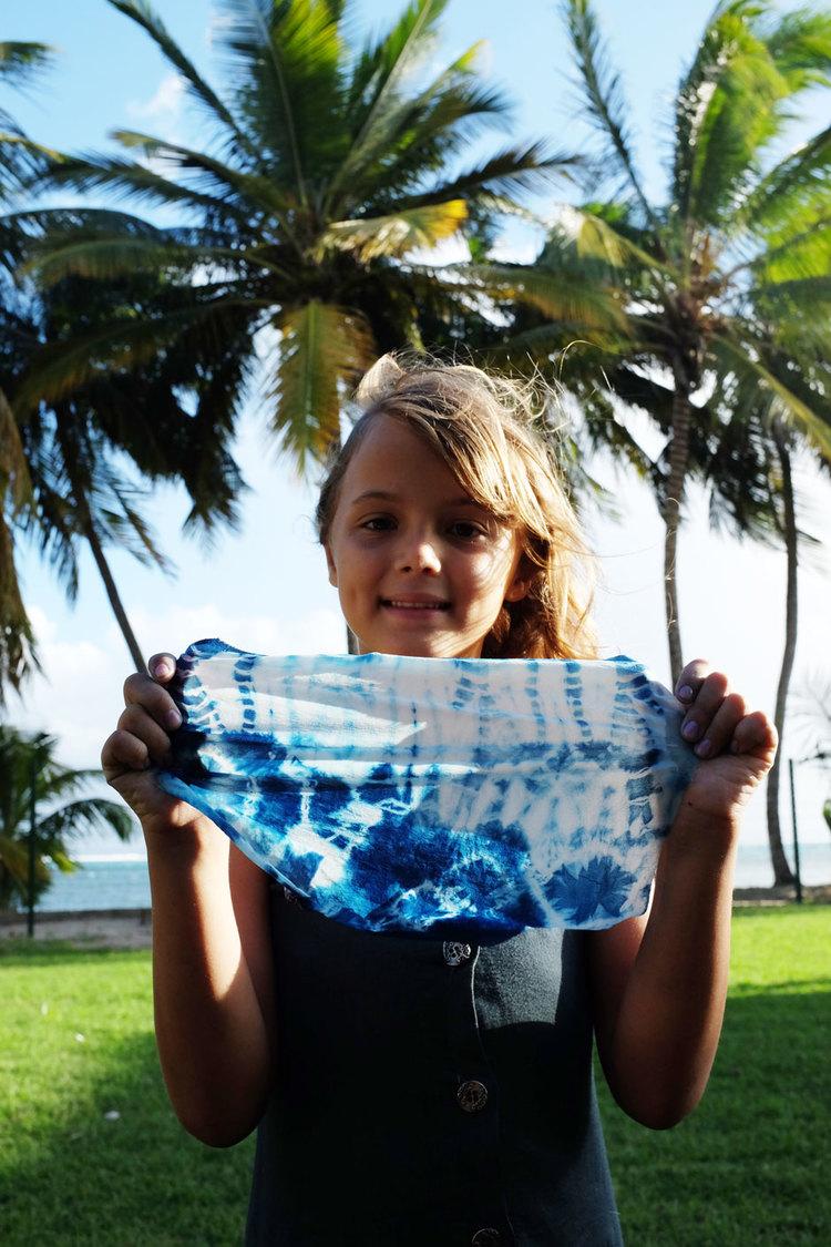 Atelier indigo shibori en Guadeloupe