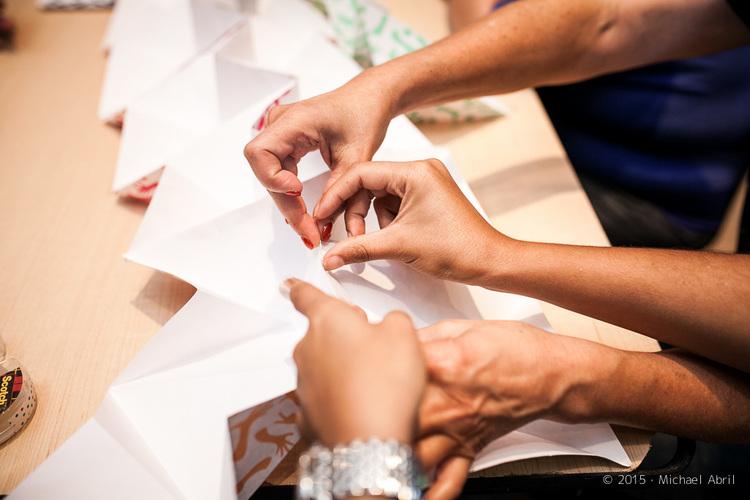 Atelier team building - Origami-géant collaboratif