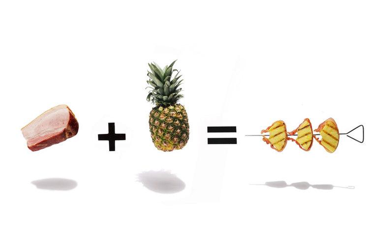 Brochettes bacon + ananas