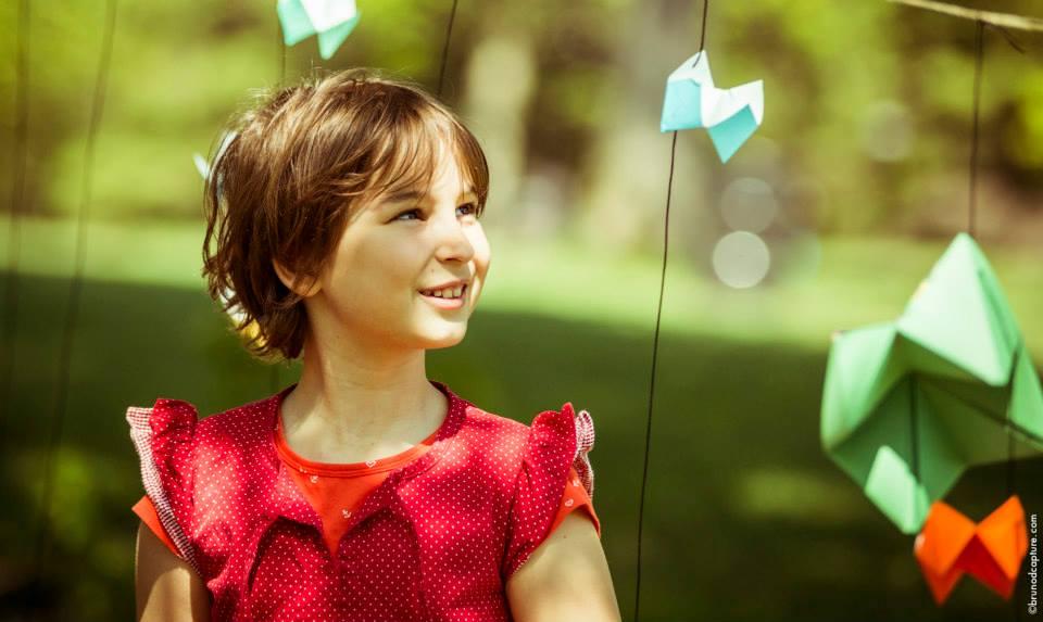Atelier de mobile origami géant pour enfant au festival Chromatic