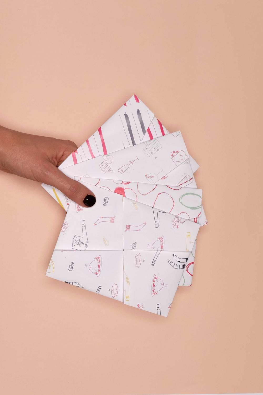 La collection de papiers à plier en enveloppe Folding' Note