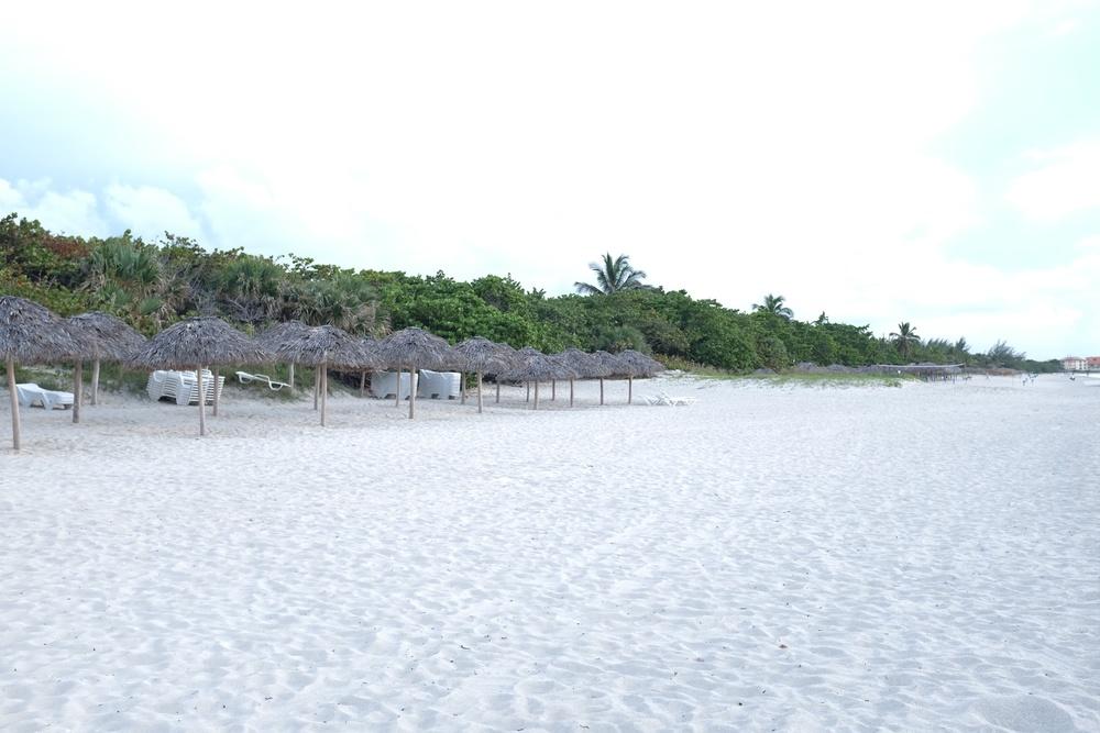 La plage de Varadero au couché du soleil.
