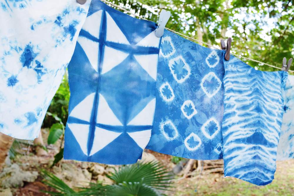 diy indigo shibori with miss cloudy