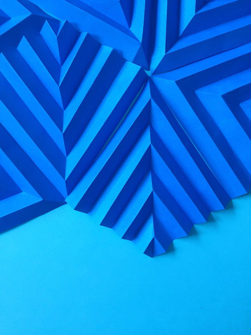 Murale deep blue, évènement privée