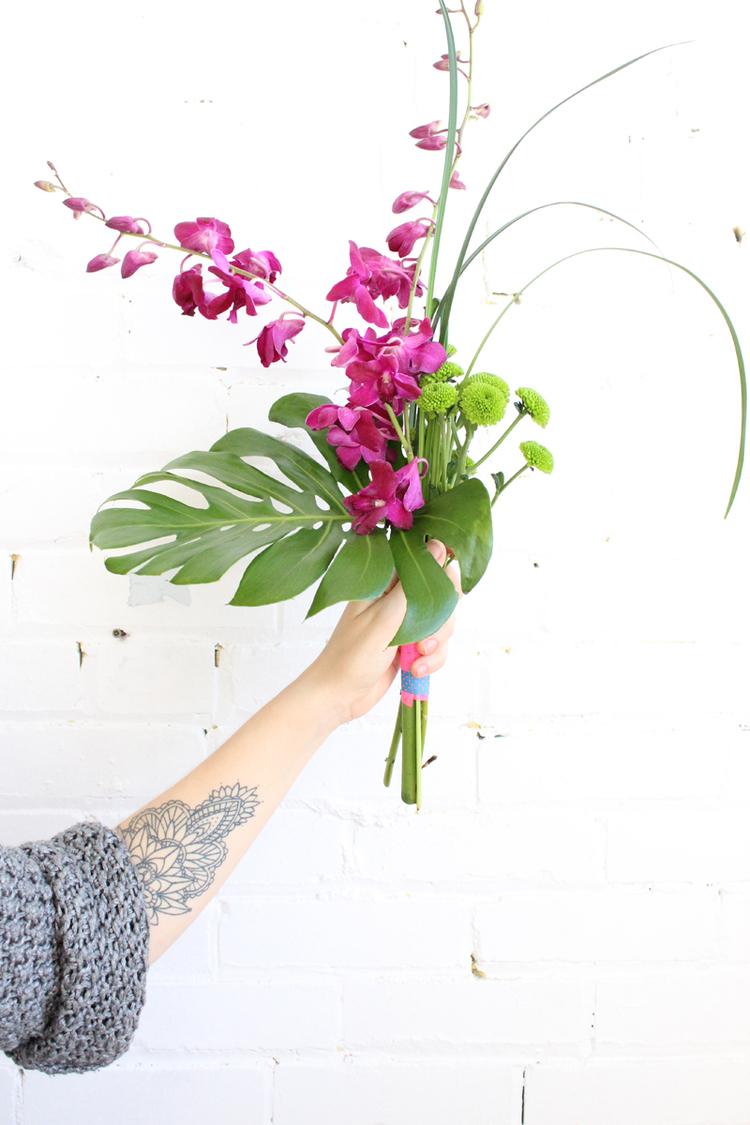 L'atelier de composition floral en compagnie de Hiromi Ono Fleur Design au Baba Loft.