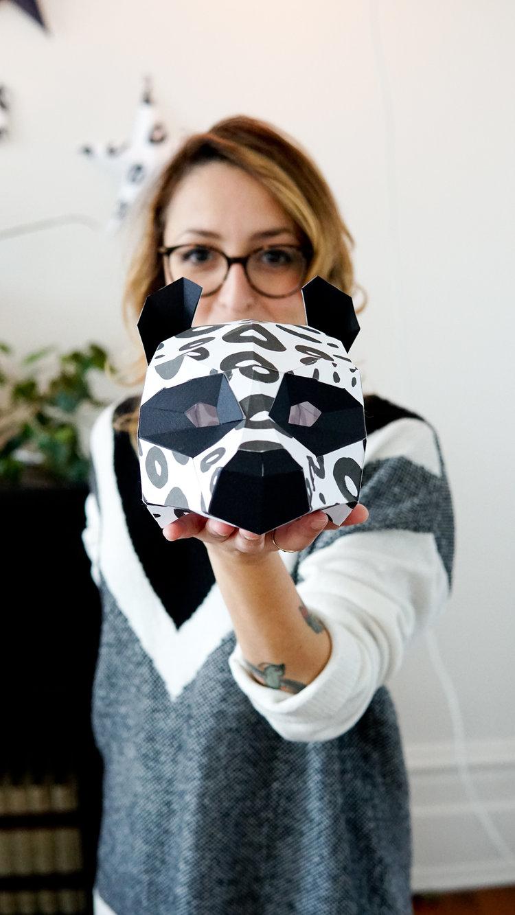 Nos masques de têtes de pandas