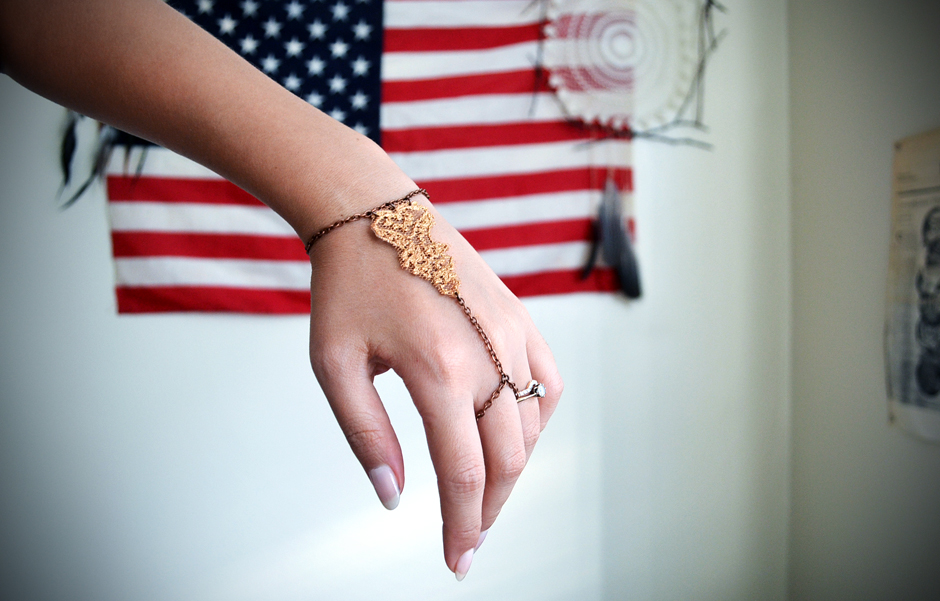 Golden Lace Slave Bracelet