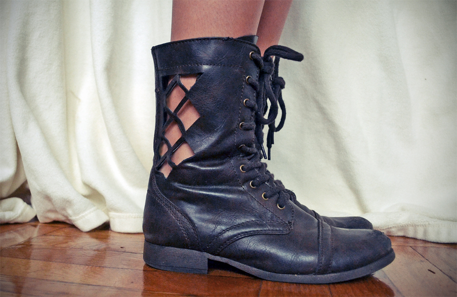 Nasty Gal Inspired Cut-Out Boots