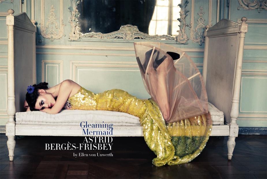 Astrid Bergès-Frisbey by Ellen von Unwerth (Gleaming Mermaid - Vogue Italia March 2012) 1.jpg