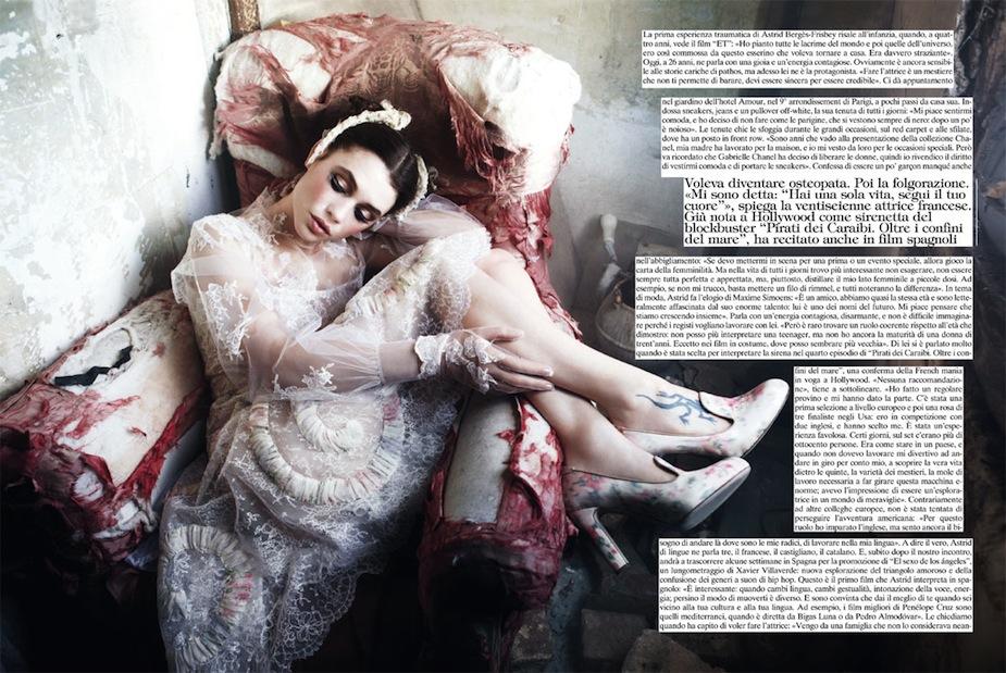 Astrid Bergès-Frisbey by Ellen von Unwerth (Gleaming Mermaid - Vogue Italia March 2012) 4.jpg