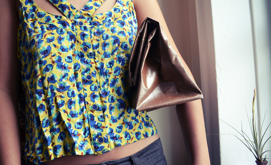 DIY faux leather paper bag clutch.jpg
