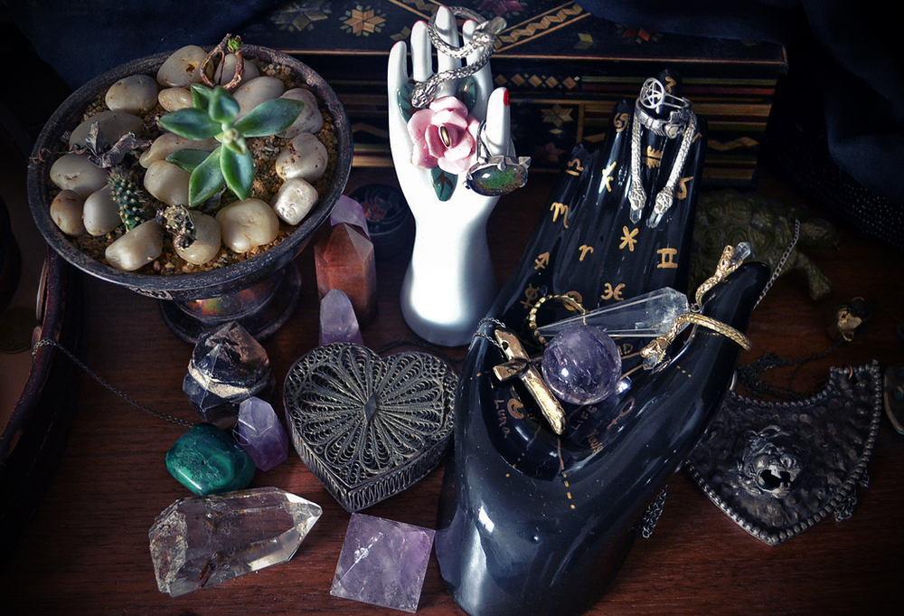 Palmistry Jewelry Display