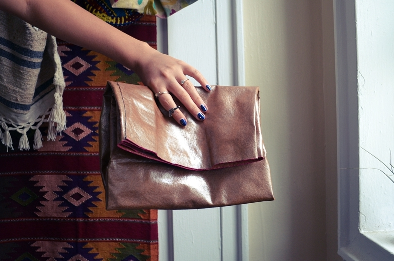 DIY No Sew Paper Bag Clutch
