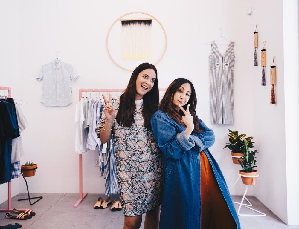 Adele Tetangco (right) with Tanya Sheikh