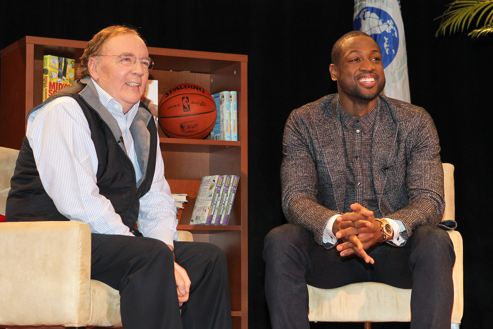 One On One   with Dwyane Wade & James Patterson.   Basktball & Literacy