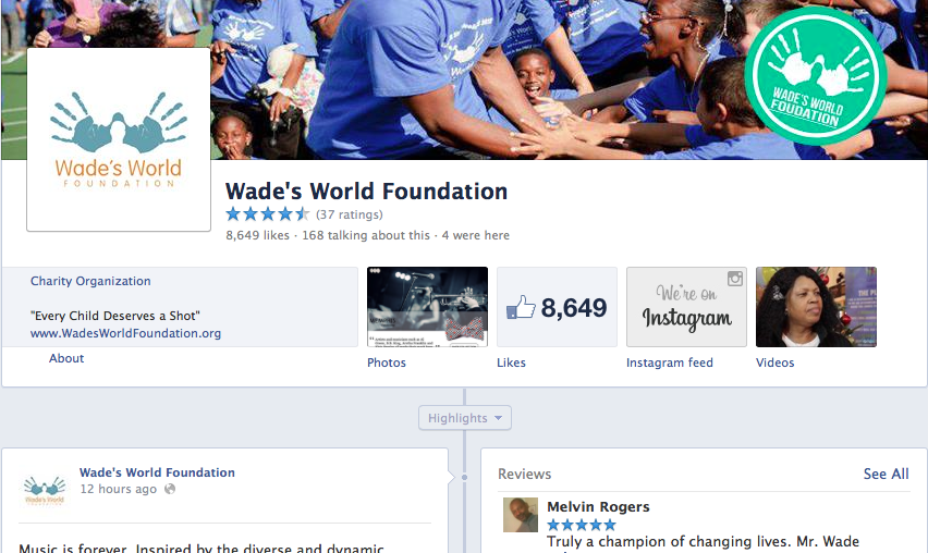 Facebook | Wade's World Foundation