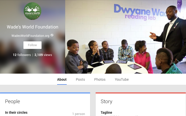 Google+ | Wade's World Foundation