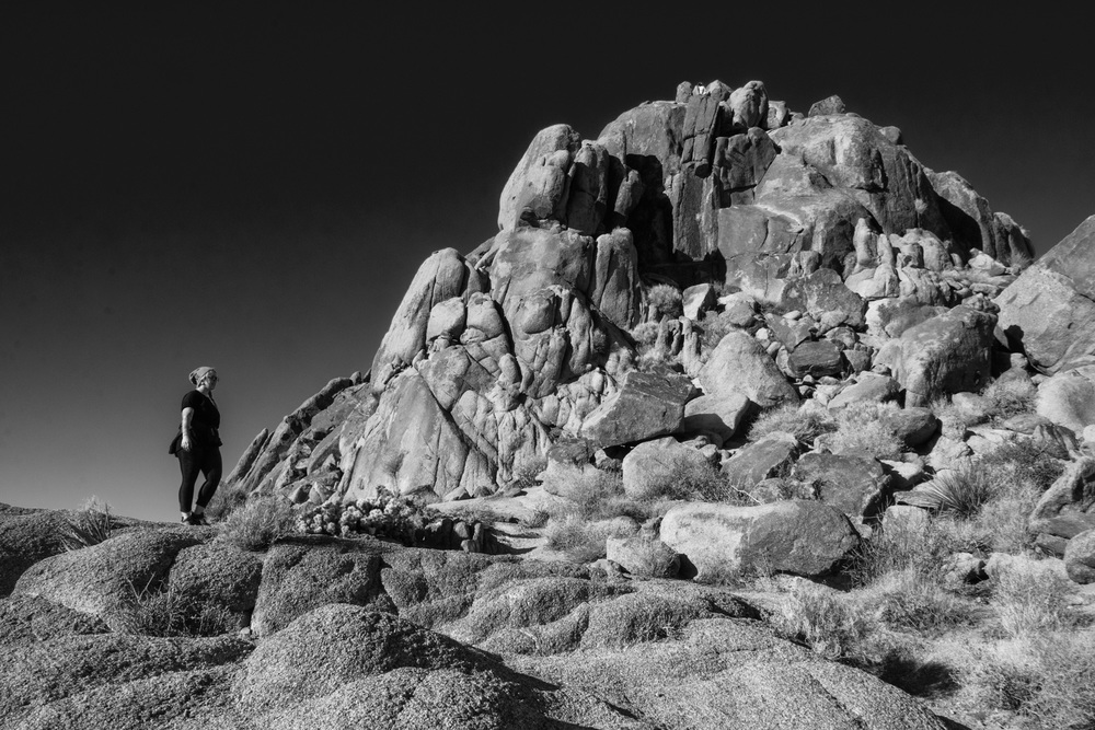 Rock Formation and Hiker