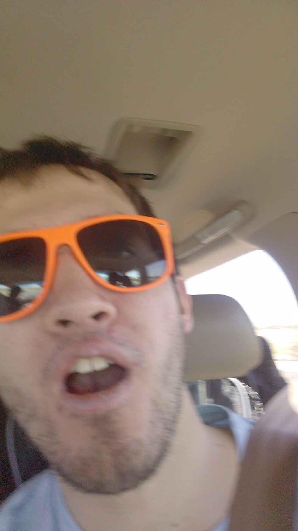 Never roadtrip without sunglasses. Bright, obnoxious, orange sunglasses. Definitely take selfies while driving.