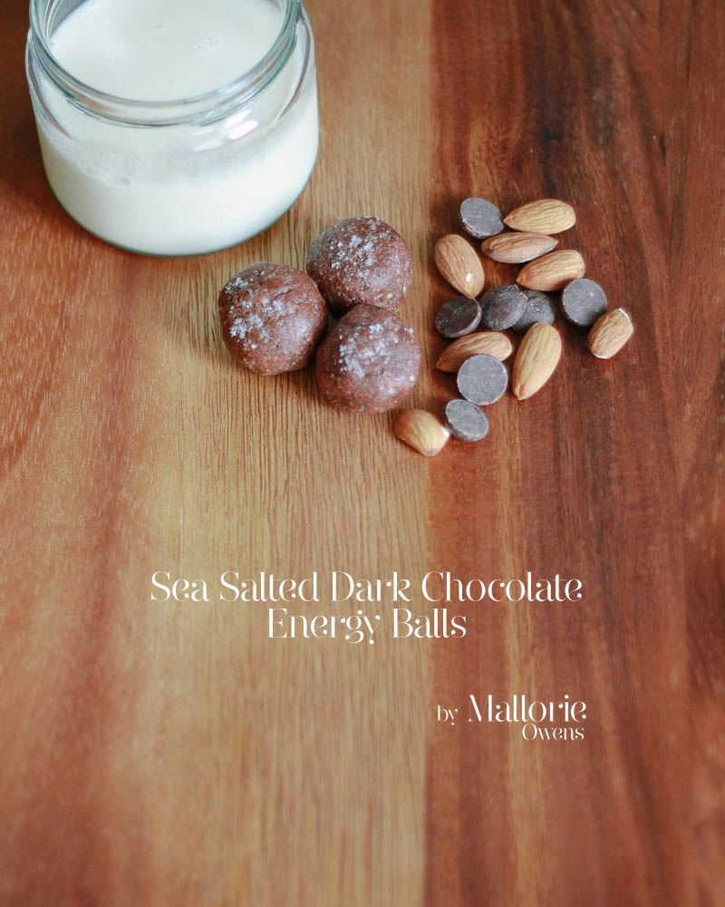 Sea Salted Dark Chocolate Energy Balls Recipe | Mallorie Owens