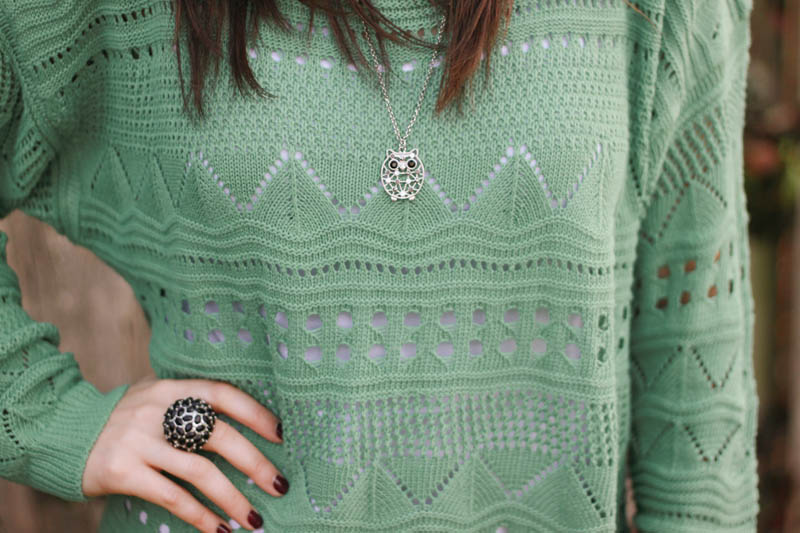 owl necklace and statement ring | Mallorie Owens