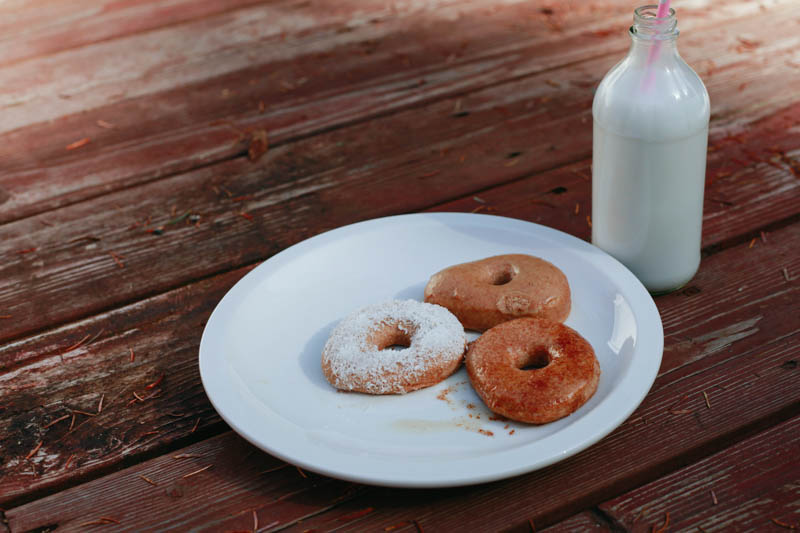 Homemade Whole Wheat Baked Doughnuts | Mallorie Owens
