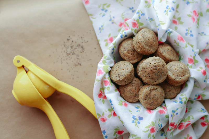 Mini Whole Wheat Lemon Poppy Seed Muffins Recipe | MALLORIE OWENS