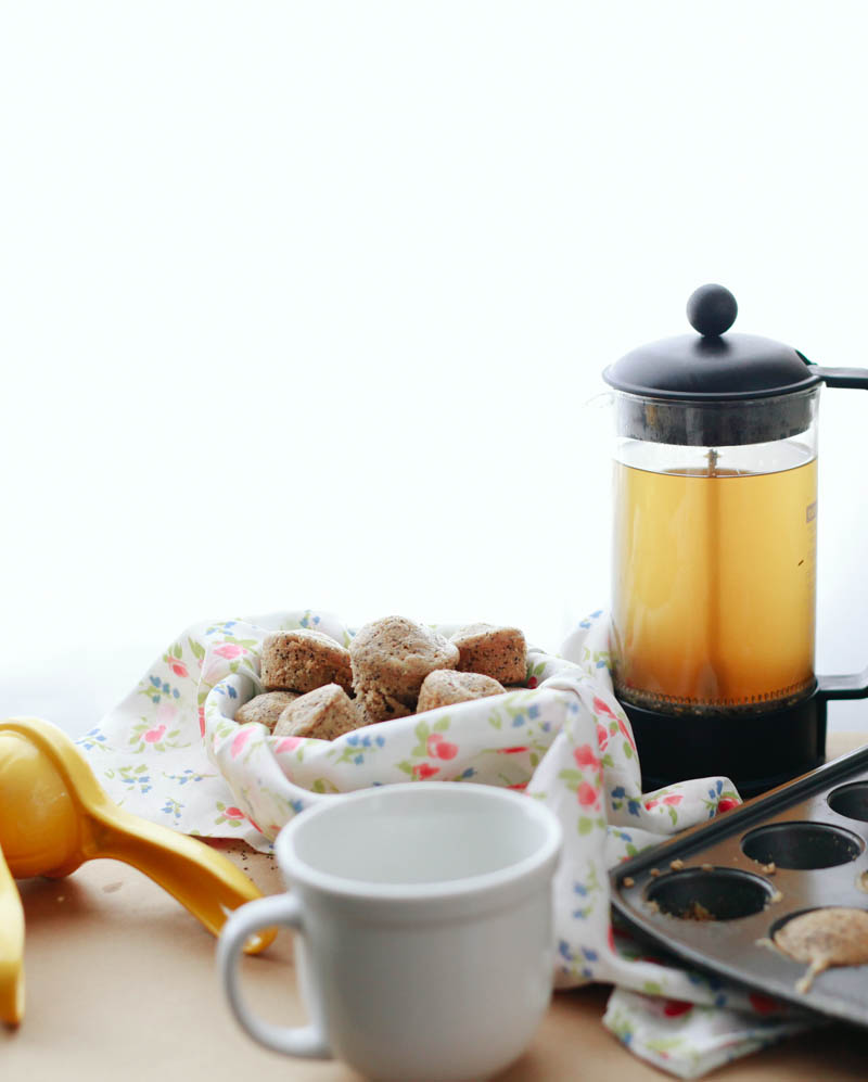 Lemon Poppy Seed Muffins and Green Tea | MALLORIE OWENS